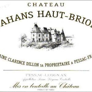 2000 Chateau Bahans Haut Brion Pessac-Leognan Bordeaux Red