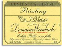 2004 Domaine Weinbach Alsace Grand Cru Reisling Schlossberg